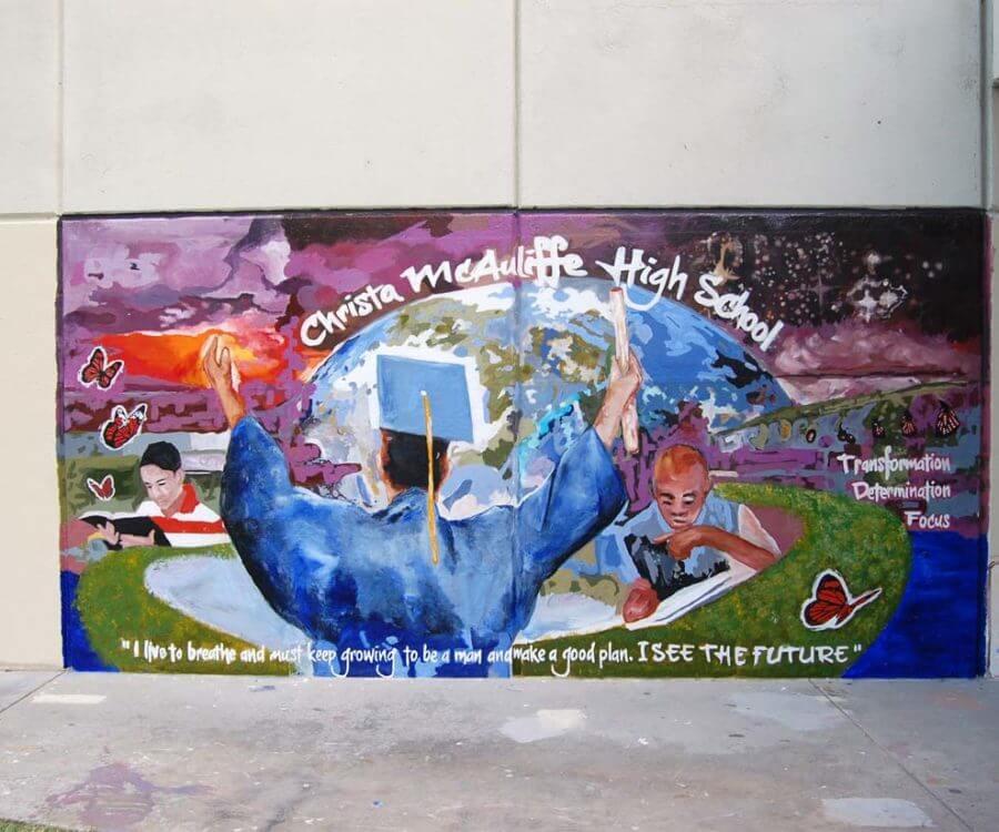 Mural Gallery - Christa McAuliffe 1